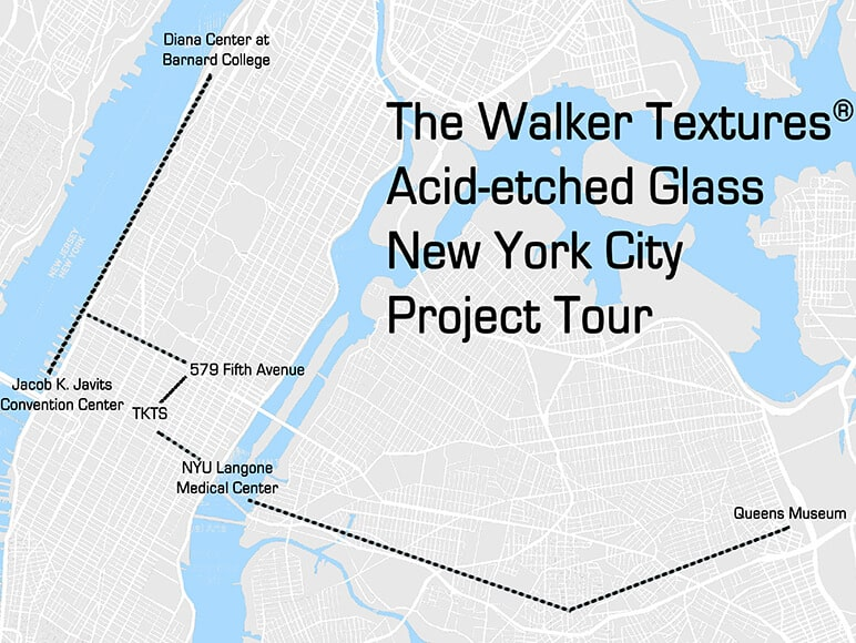 The Walker Textures® Acid-etched Glass New York City Project Tour