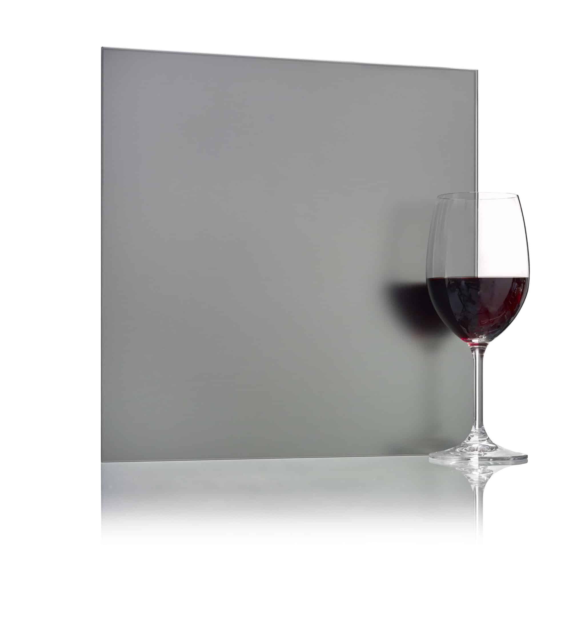 Miroir gris dépoli à l'acide-Verrerie Walker