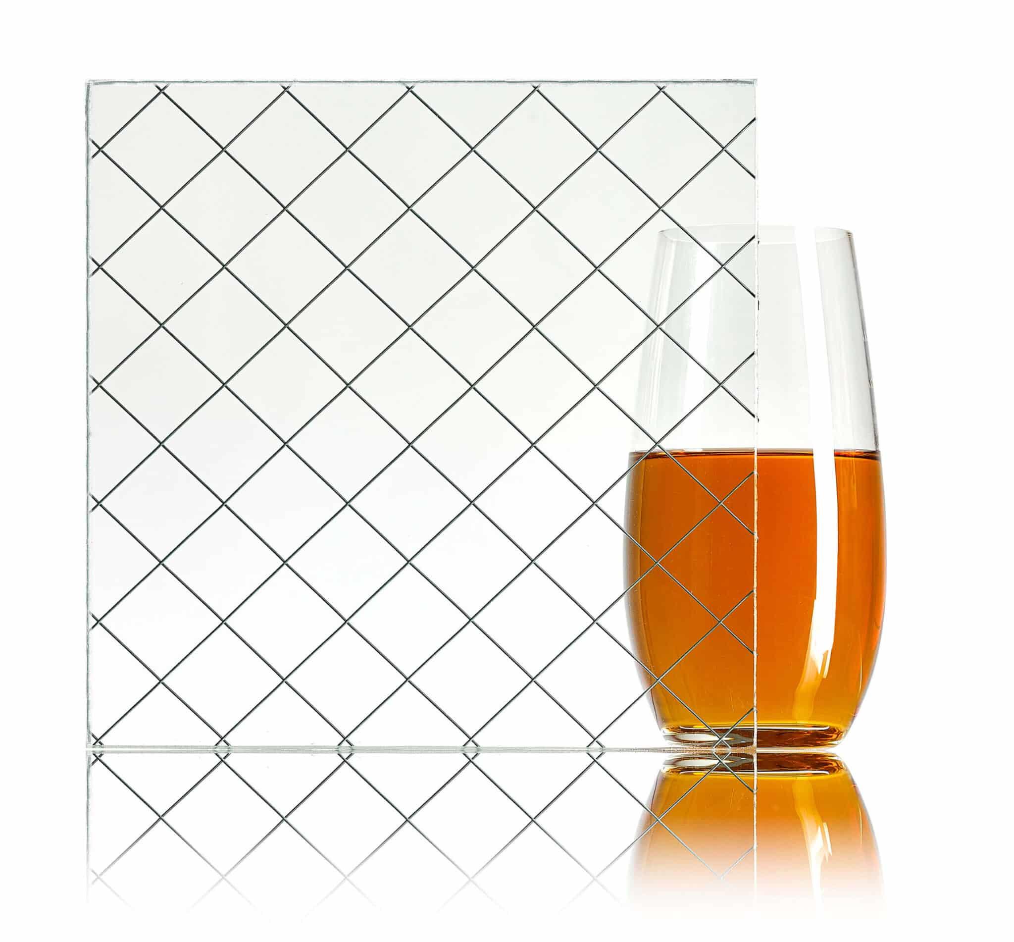 verre broché à motif Diamant – Verrerie Walker