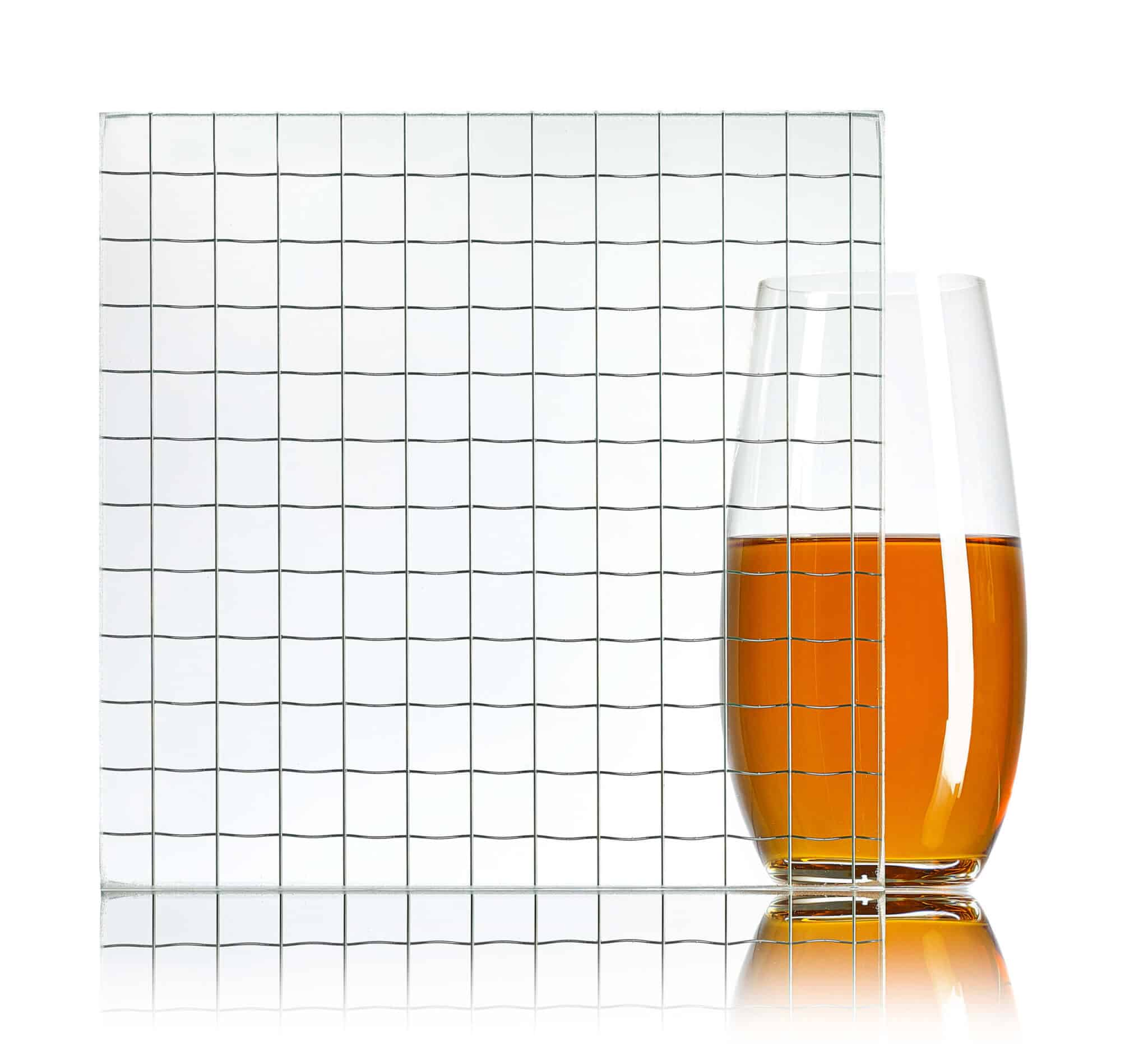 Squares Wired Glass – Walker Glass